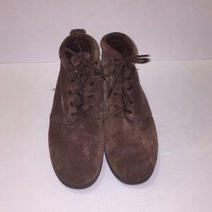 Preworn Dr Scholls brown boot shoes